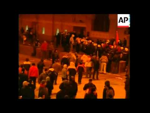 Clashes in Belgrade in wake of declaration of Kosovo independence