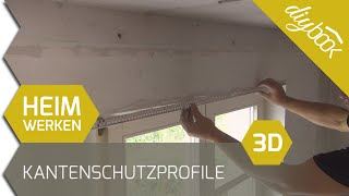 kantenschutz spachteln putzprofile anbringen 3d. Black Bedroom Furniture Sets. Home Design Ideas
