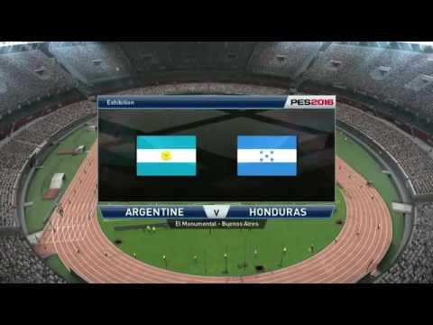 Partido Amistoso Internacional 2016 Argentina vs Honduras