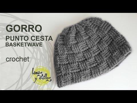 Gorro Unisex Crochet o Ganchillo Punto Cesta