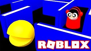 PAC-MAN in Roblox?!?! - Roblox PacBlox - DOLLASTIC PLAYS!