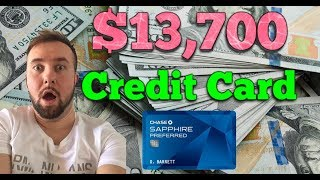 Got Approved For $13,700 - New Chase Sapphire Preferred Credit Card