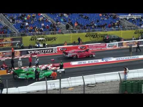 Next up under for Drag Racers and fans threatening skies was the