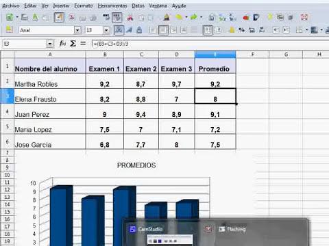 Como crear graficos en LibreOffice Calc