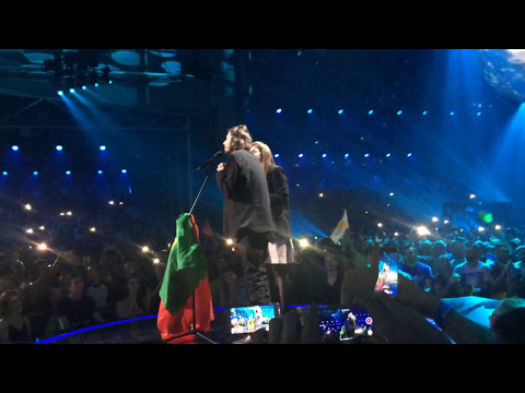 Winners moment & performance  - Salvador - Portugal - Eurovision 2017 - inside arena