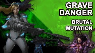 Starcraft 2 Co-op Brutal Mutation: Grave danger [ Nova ]