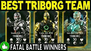 BEST TRIBORG TEAM in MKX Mobile. Sub-Zero Triborg IS AMAZING!
