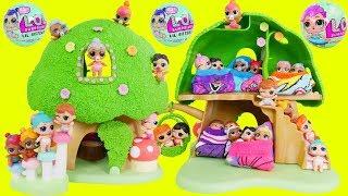 LOL Surprise Dolls + Lil Sisters in Tree House School