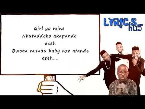 Kapande Lyrics - B2c x Eddy Kenzo (Official Lyrics Video)
