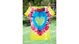 Tie-Dye 101: Heart Design T-Shirt