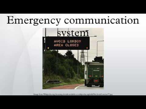 Emergency communication system