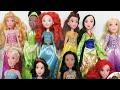 New 11 Disney Princess Royal Shimmer Dolls Collection Ariel Rapunzel Tiana Belle Mulan Aurora mp3