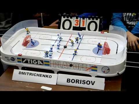 Table Hockey. Настольный хоккей. Moscow Open 13.  Dmitrichenko-Borisov. Semifinal. Game 5