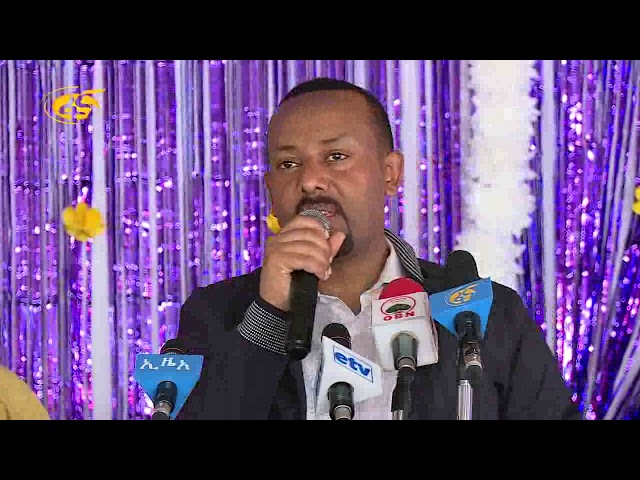 Dr Abiy At  Mekedonia Home for Elderly, Mentally Disabled People