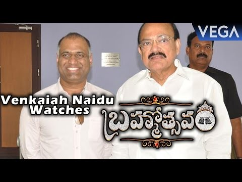 Venkaiah Naidu Watches Brahmotsavam Movie