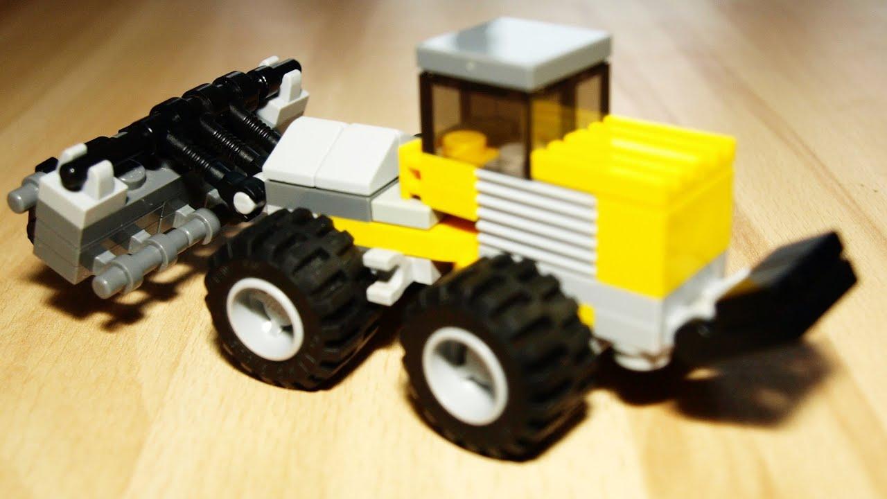 трактор с прицепом из лего картинки