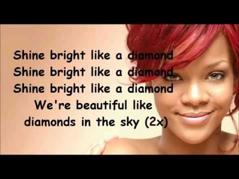 Rihanna Diamonds Lyrics video