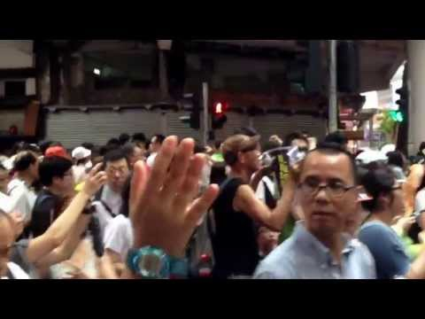 Hong Kong protesters demand leader CY Leung step down (July 1, 2013)