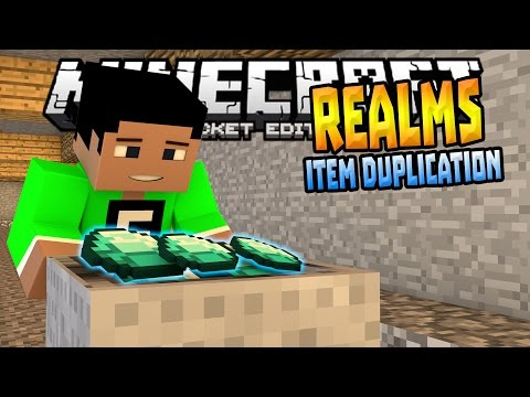 MCPE 0.15.0 REALMS GLITCH!!! - Realms Item Duplication Glitch - Minecraft PE (Pocket Edition)