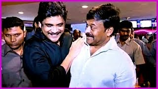 Chiru & His Family Members - At World Premier Show Of MANAM - ANR , Nagarjuna,Samantha