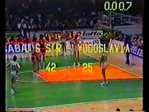 ЧЕ по баскетболу 1981г.  СССР - Югославия   Финал