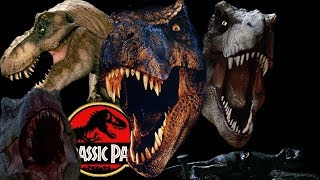 Every T-Rex in the Jurassic Park Film Series
