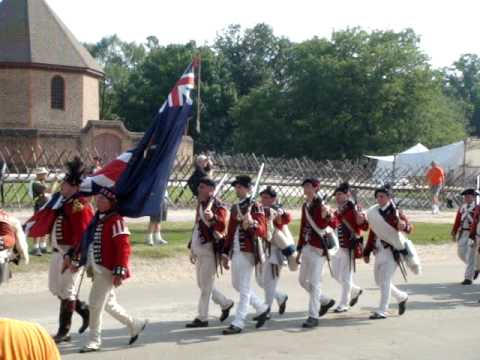 Colonial Williamsburg UTR March Out '09 Video