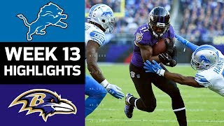 Lions vs. Ravens | NFL Week 13 Game Highlights