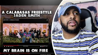 A CALABASAS FREESTYLE - JADEN SMITH   YOU CANT SAY HE IS NOT A GOAT   REACTION