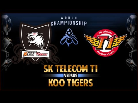 SK Telecom T1 vs KOO Tigers - Worlds 2015 - Finale - Game 1 - FR