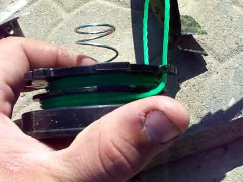 How To: Restring A Weedeater video