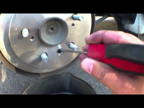 How to replace rear brake pads rotors Toyota Camry √