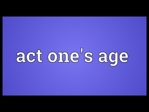 Header of Act One's Age