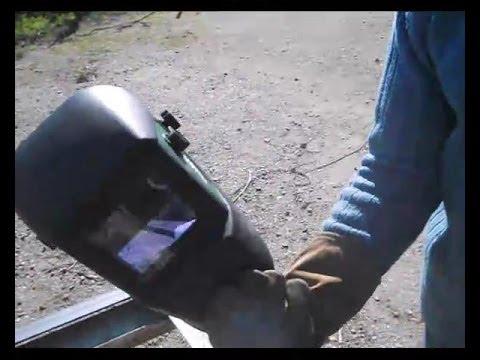 Careta de soldar automática. primera prueba