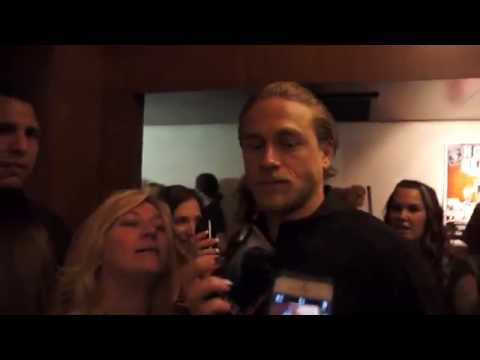 Sons Of Anarchy Charlie Hunnam Takes Selfies W/ MANY Fans @ 3rd One Heart Source Part #1 (10-11-14)
