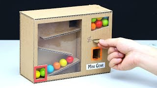 Wow! Amazing Gumball Vending Machine with Coin
