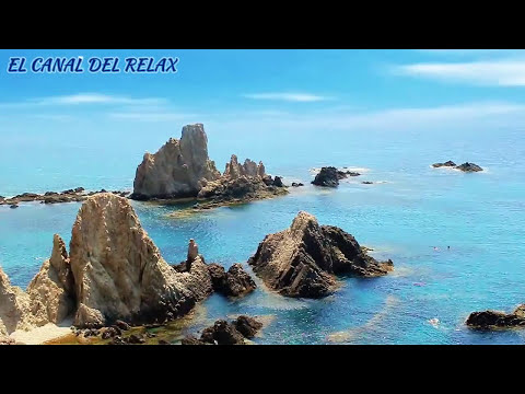 ARRECIFE DE LAS SIRENAS, MUSICA RELAJANTE, RELAXING MUSIC WITH PIANO AND WAVES