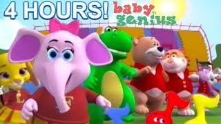 4 HOURS BABY ANIMALS SING A LONGS KIDS AT THE ZOO BABY GENIUS LEARN SHAPES AND COLORS