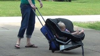 How to wheel 1 or 2 Car Seats around the Airport