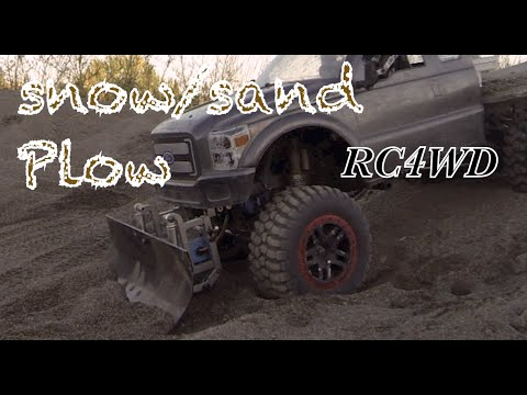 RC CWR RC4WD snow/sand plow on a 6X6 axial honcho