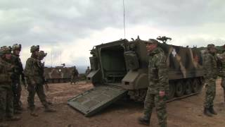22 MEU and Hellenic Army Conduct Familiarization on M1A5 Tank, M113 Armored Personnel Carrier