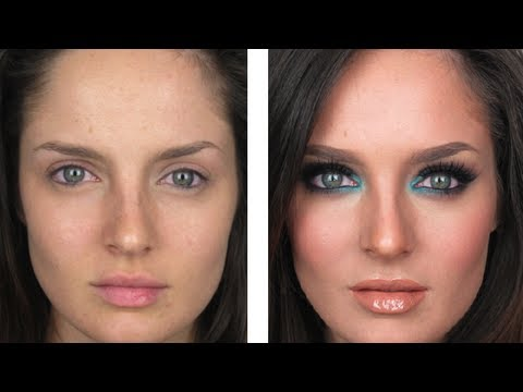 Seductive Smokey Teal Clubbing Makeup Tutorial