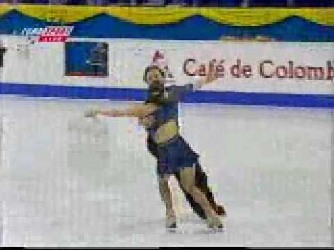 Анна Семенович на чемпионате мира по фигурному катанию 2000