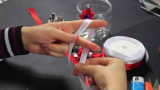 Video Tutorial Fiocco di Raso Hair Ribbon Decorations Fast Christmas gifts Valentine