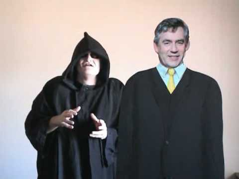 Gordon Brown and Mr Grim Reaper talk on Climate Change