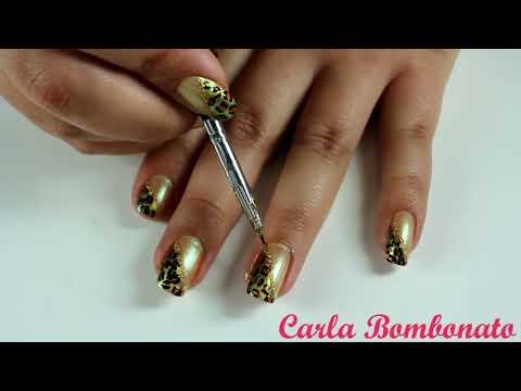Unhas de Oncinha (Onça, Leopardo, Espanhola) em diagonal - Ounce / Leopard Nails