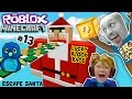 ESCAPE SANTA OBBY! Roblox #13 Minecraft Lucky Block Race Chal...