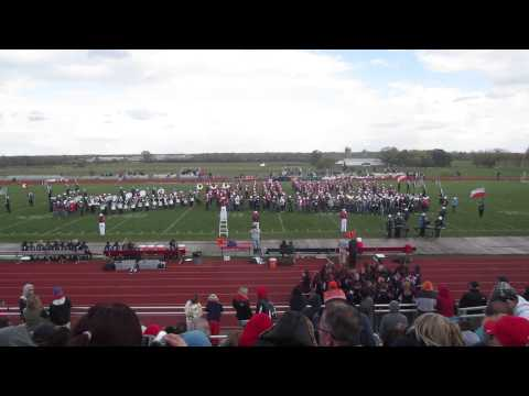 2013 Oct 19 South Elgin High School Band Halftime w/ Middle Schoolers