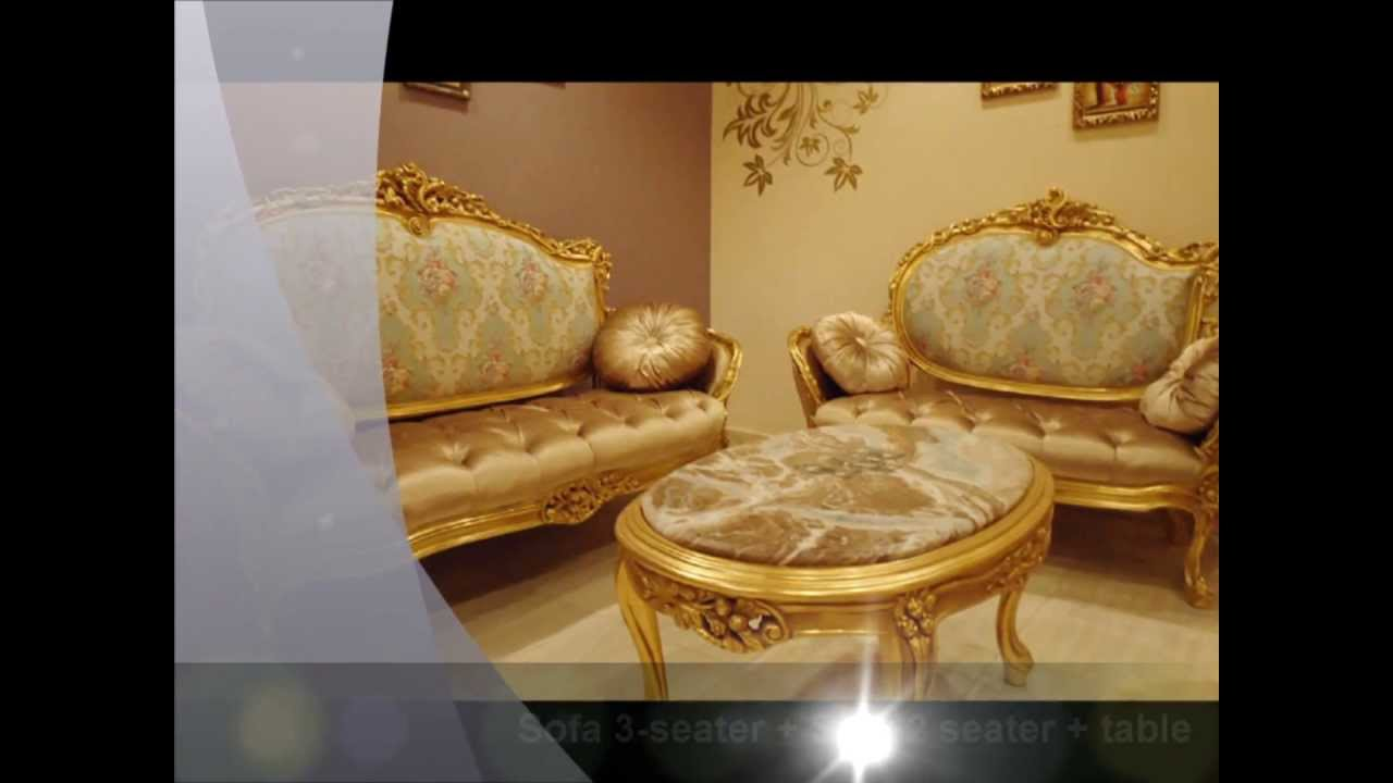 Luxury Classic French Carved Sofa Set Louis Xv Sofa Set