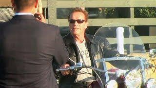Arnold Schwarzenegger Wants His Selfie Taken! Check Him Out On His Bike In Malibu